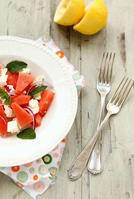 Watermelon and Feta Salad | VEGGIES | Pinterest