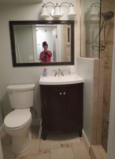 Small Bath Magic Walk In Shower Lovin Tiny Home Pinterest