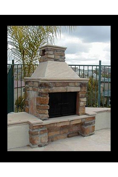 Mirage Stone One Sided Outdoor Fireplace Home Pinterest