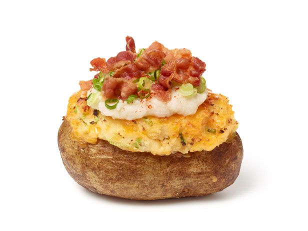 Super-Stuffed Baked Potatoes from FoodNetwork.com Made this last night ...