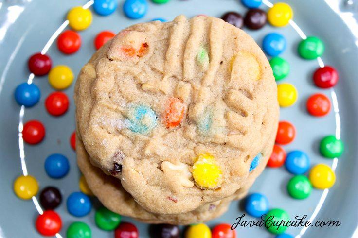 chunky peanut butter m amp m cookies amp cookie bites javacupcake com