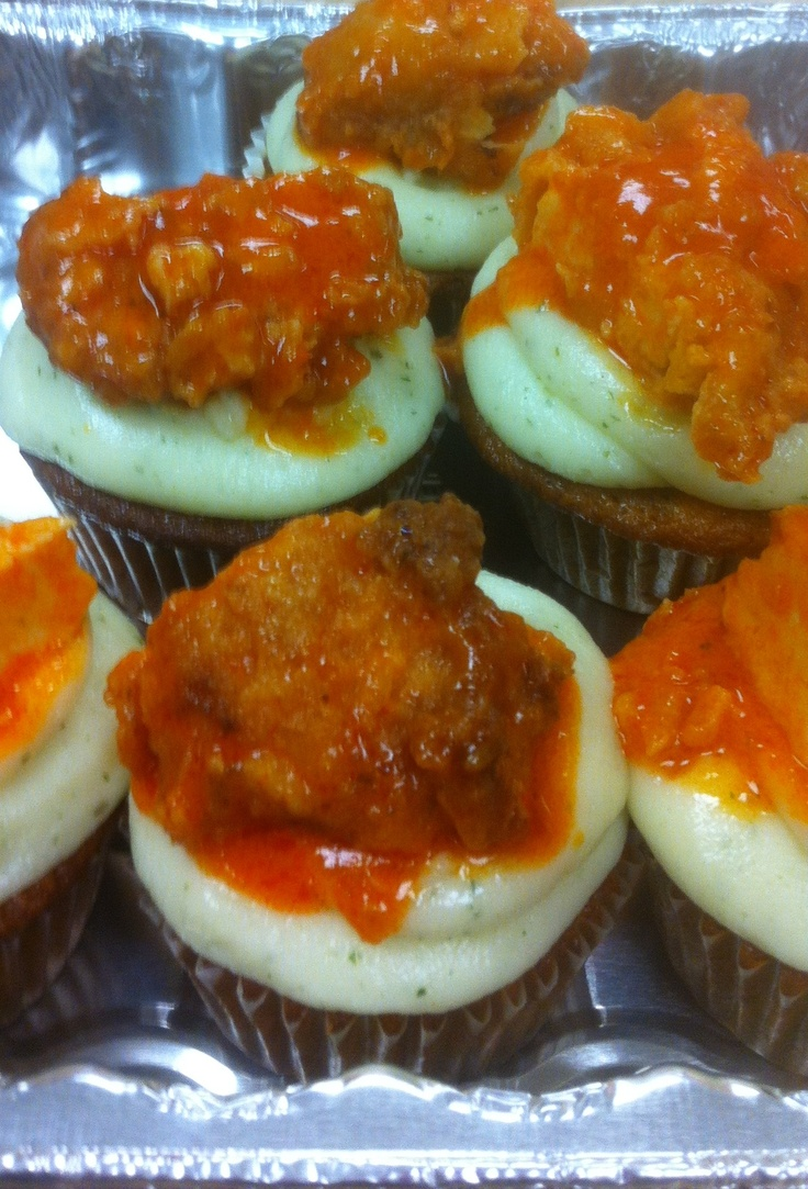 Buffalo Chicken Cupcakes | Recipe For Disaster | Pinterest