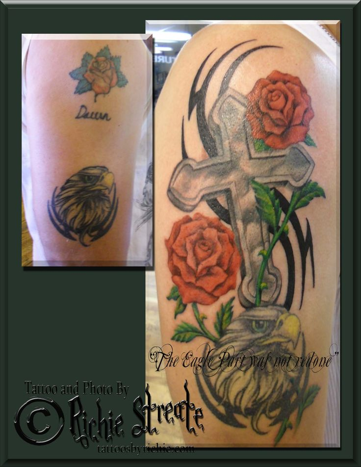 Cross and Roses Tattoo Cover Up | Tattoo Nightmares Cover Up Tattoos ...
