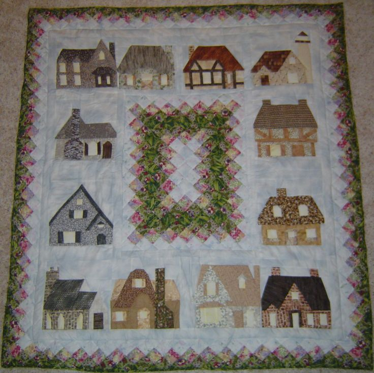 Quilt Block Patterns Of Houses : house quilt block Quilt Block Patterns Sewing: quilt ideas Pint?