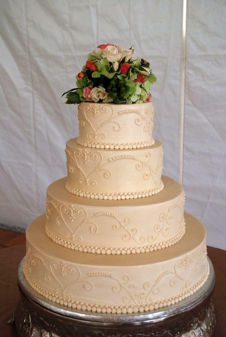 Buttercream Wedding Cake Weddings Pinterest