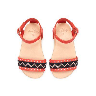 Image 2 of Boho leather sandal from Zara