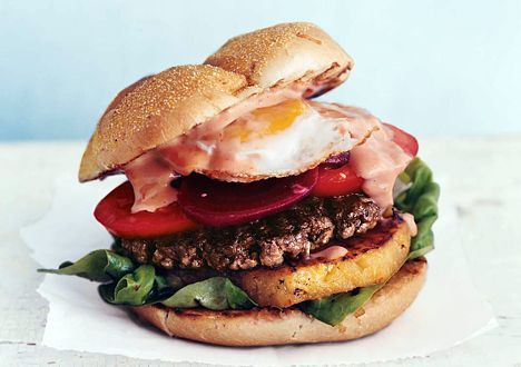 Aussie Burger The whole recipe is at http://appetizerrecipe.net/posts ...