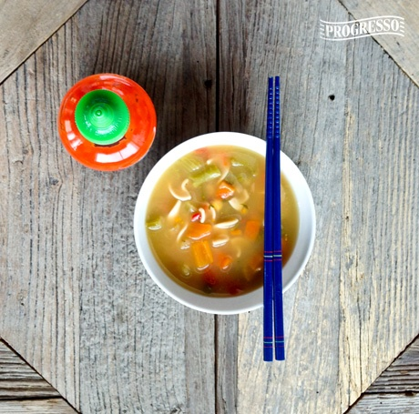 ... Noodle. We spiced things up today by adding Asian flavors to our soup