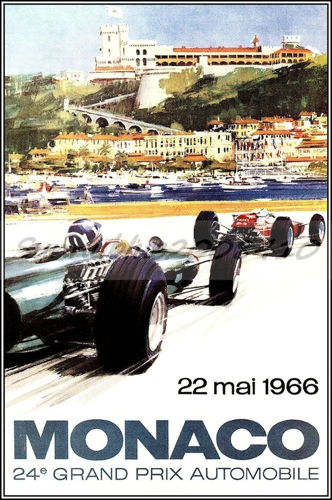 monaco grand prix art deco