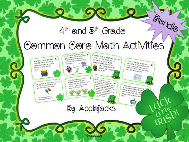 St. Patrick's Day Math Activities - 4th and 5th Grade Bundle on ...