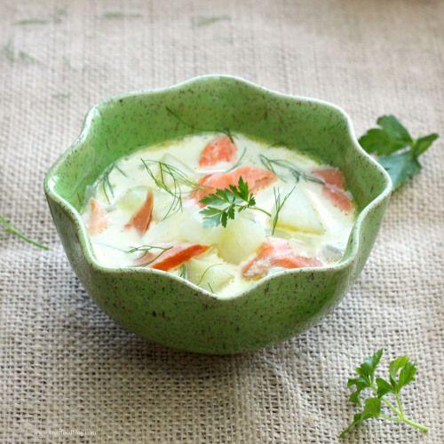 Salmon and Fennel Chowder | My Inner Nigella | Pinterest