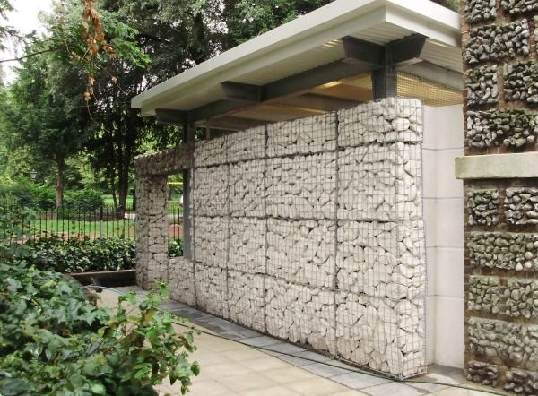 Gabion stone wall lifestyle living pinterest Gabion wall design