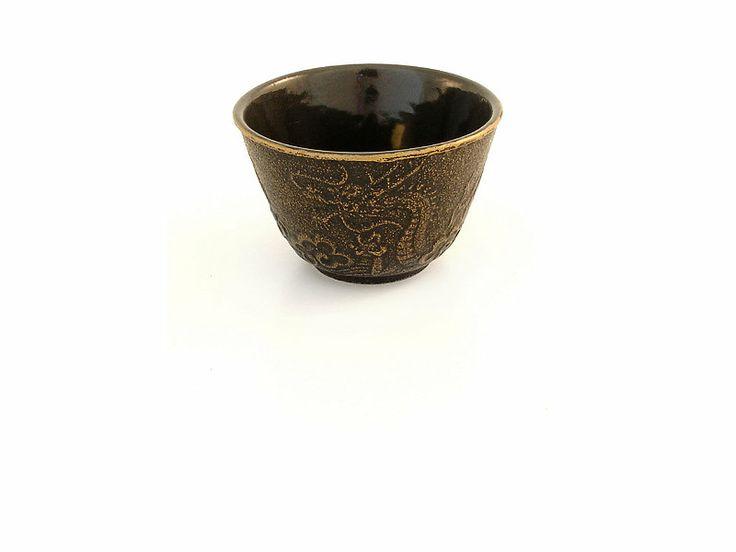 Teavana imperial dragon cast iron tea cup - Imperial dragon cast iron teapot ...