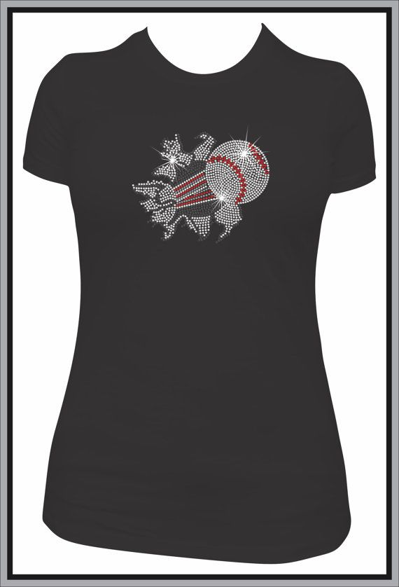 Rhinestone Baseball Custom T Shirt Bling Shirt