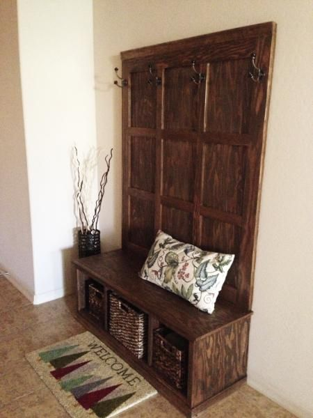 Hall Tree Bench Clever Pinterest