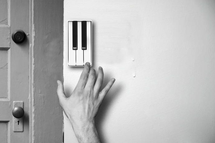 Doorbell that allows guests to perform a short piece of music on arrival!