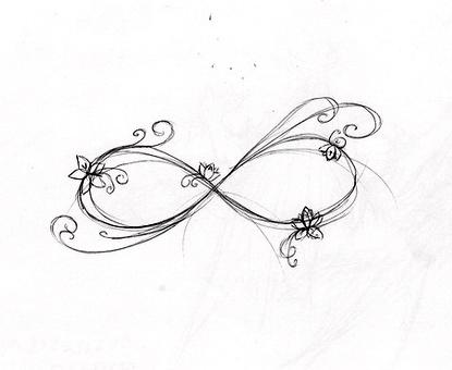 Infinity symbol tattoo drawings sketch coloring page for Infinity sign coloring pages