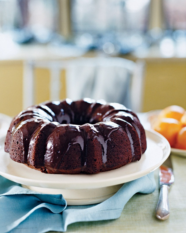 Chocolate Bundt Cake - We used honey instead of sugar, Original Almond ...