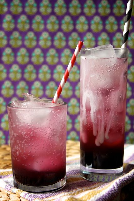 maple blueberry syrup and soda water - joy the baker, via Flickr