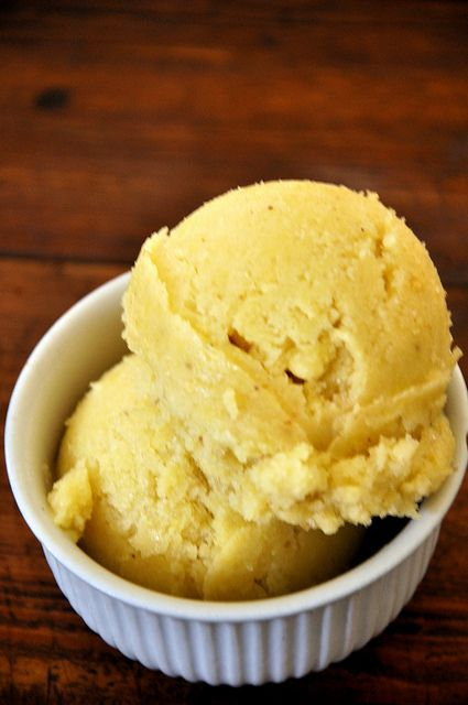 Roasted Banana Ice Cream- 1 ingredient... can you guess? :)