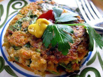 Spinach-quinoa cakes (vegan)
