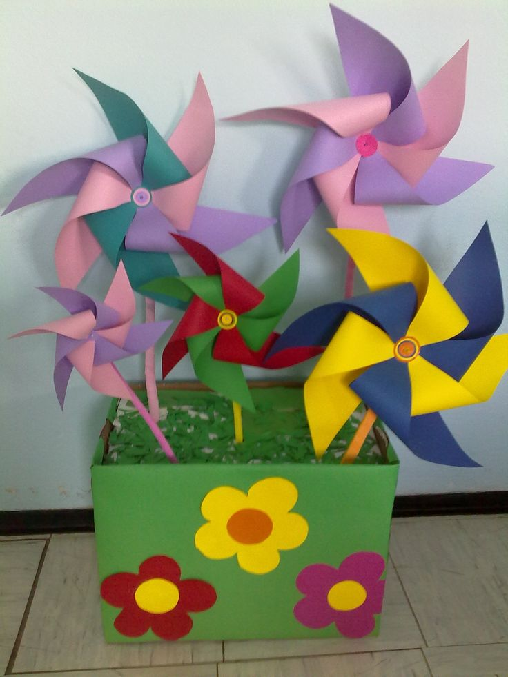 Colorful paper windmills | My School Crafts | Pinterest