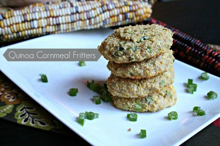 Quinoa Cornmeal Fritters   Britt's Blurbs