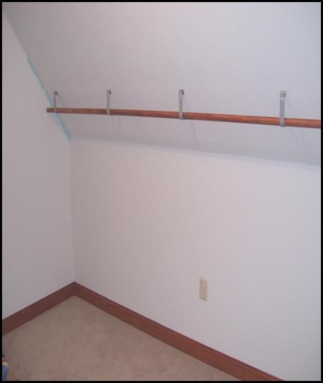 Angle Ceiling Brackets Closet Rod Closet For This Island Girl Pin