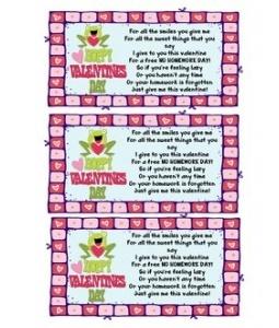 valentine s day homework