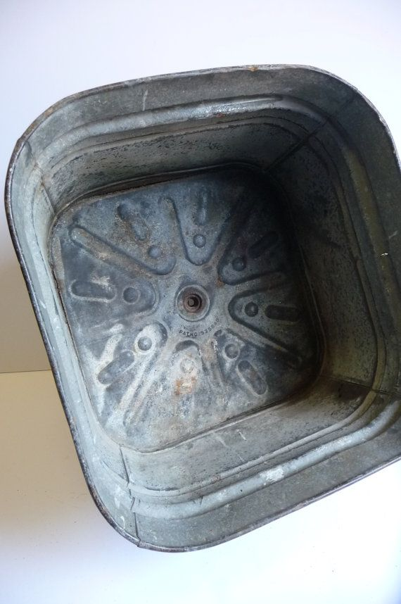 ... Galvanized Metal Sink Wash Tub Industrial Laundry Studio Embossed