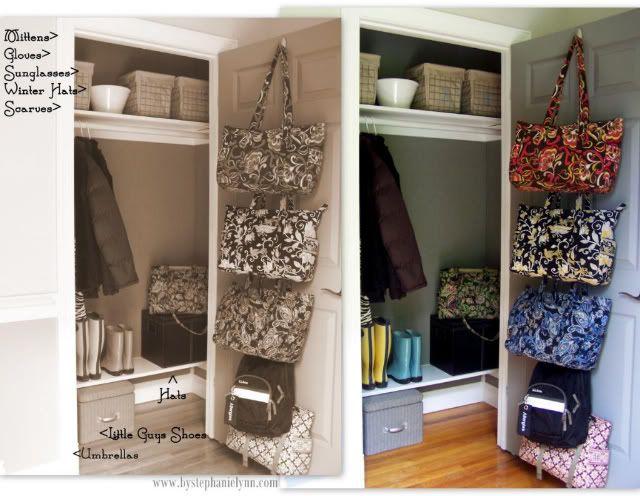 Organizing The Front Entry Coat Closet