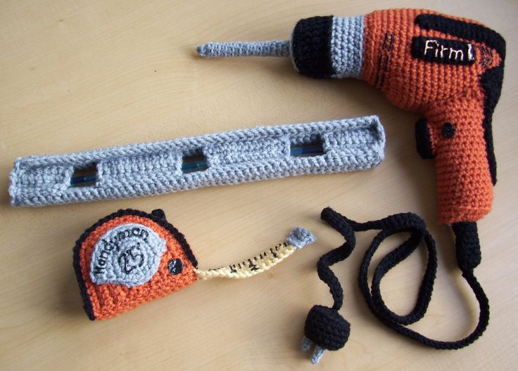 Crocheting Tools : Carpenters ToolsPDF Crochet Pattern by KTBdesigns on Etsy, $5.00