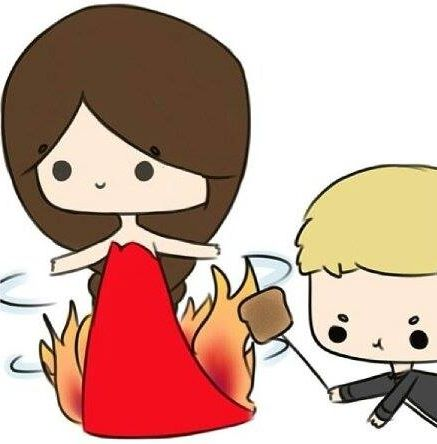 Way too cute katniss and peeta drawing spur of the moment pintere