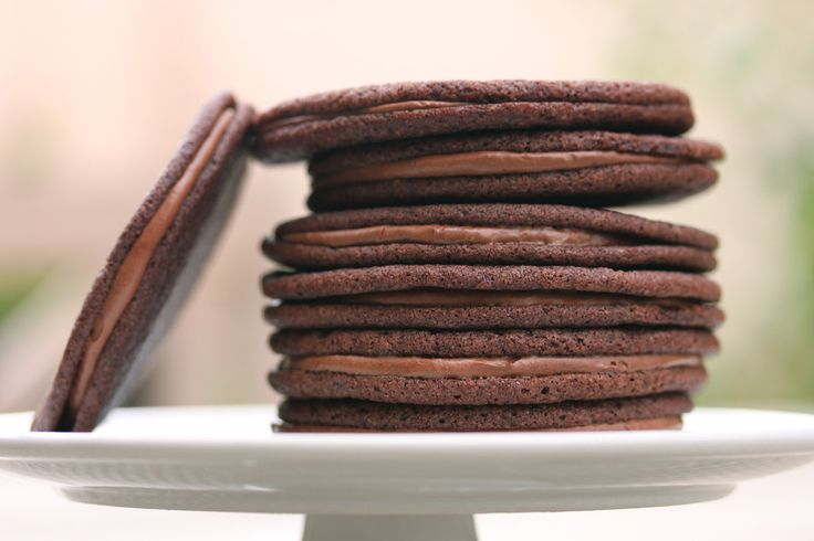 Chocolate Malt Sandwich Cookies | Fooderie | Pinterest