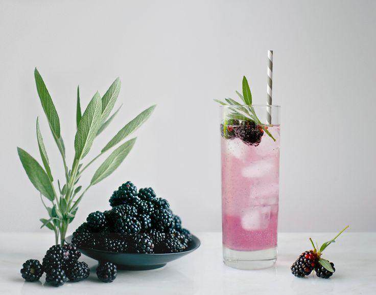 blackberry sage spritzer | drinks & cocktails | Pinterest