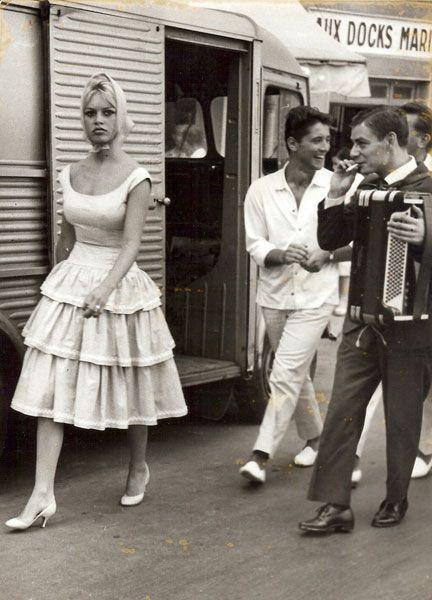 Brigitte Bardot and Sacha Distel