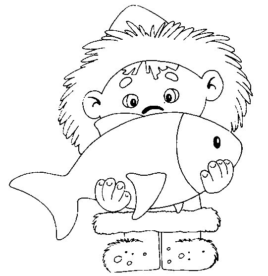 eskimo coloring pages - photo#12