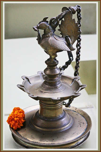 Hanging Oil Lamp. The Style of the Leela. Kovalam, India. by Ganga108 (Life is meant to be lived joyously), via Flickr