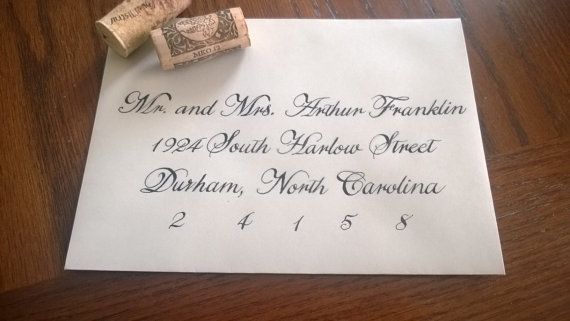Traditional Copperplate Handwritten Calligraphy Wedding/Special Event ...