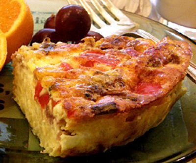 ... ham quiche with a potato crust green chile and ham quiche with a