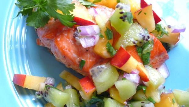 Grilled Salmon with Summer Fruit Salsa | KCTS 9 - Public Television ...