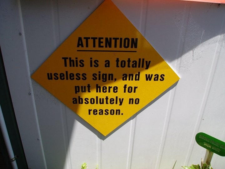A pointless sign