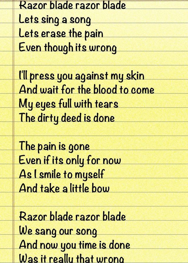 Poem about self harm | Sad but - 125.6KB