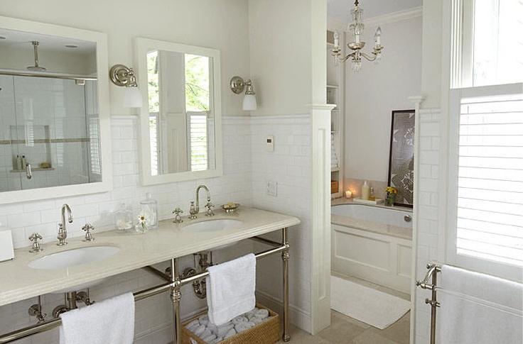 Tudor revival x white bathroom tudor style pinterest for Tudor bathroom design