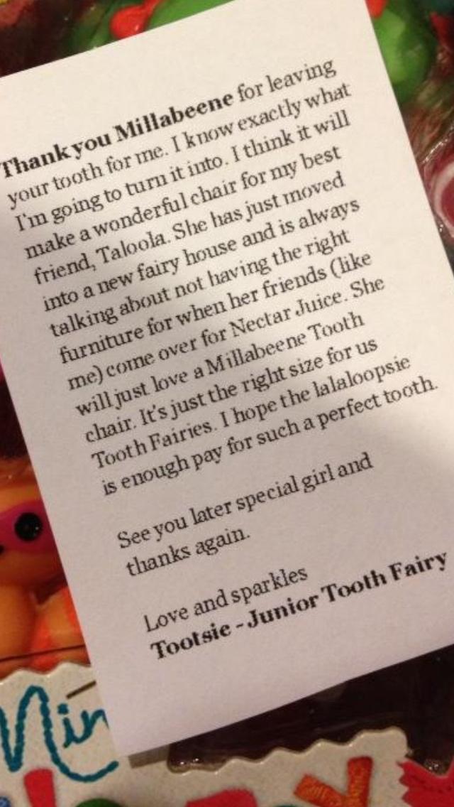 Tooth fairy letter idea jen pinterest for Fairy letter ideas