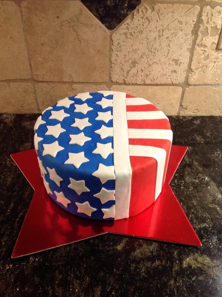Cake Designs Usa : Patriotic Cake Emma s First Birthday Party Ideas Pinterest