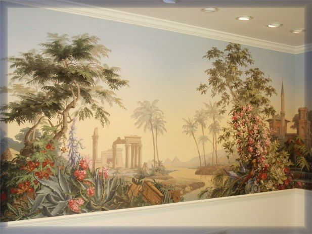 Scenery wallpaper scenic wallpaper zuber for Colonial mural wallpaper