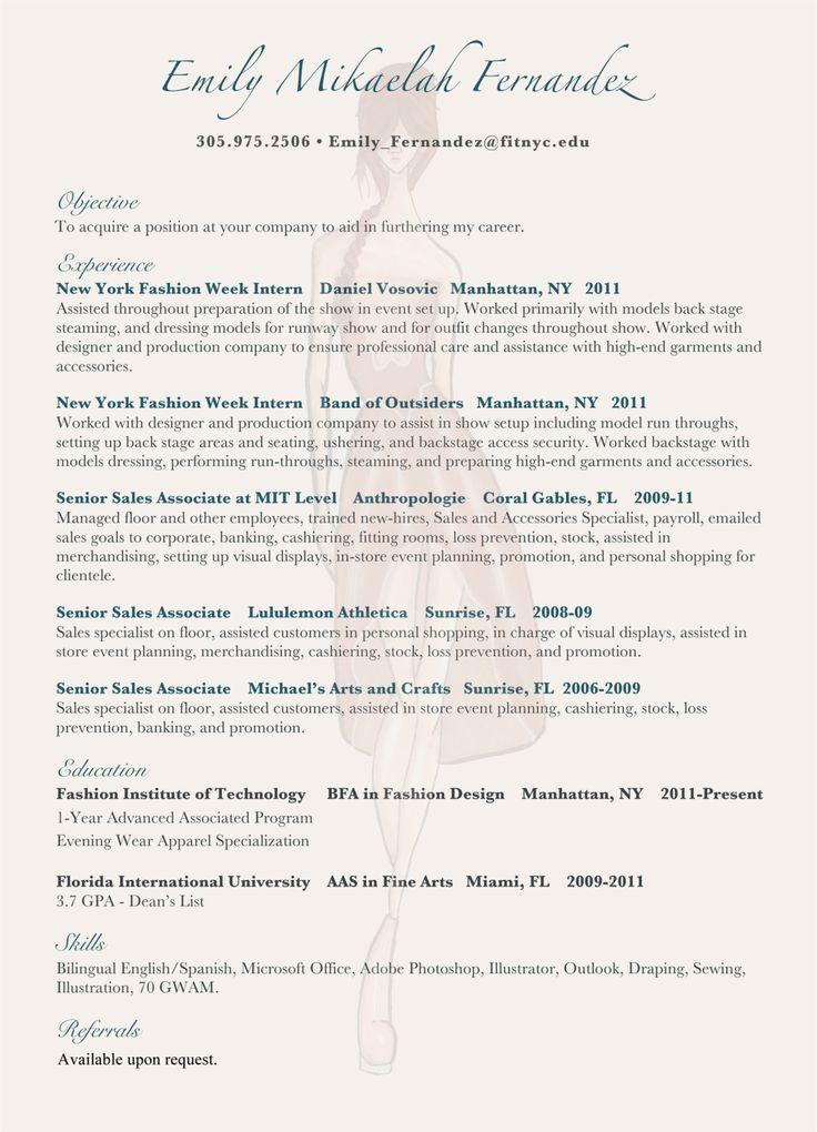 cover letter fashion internship