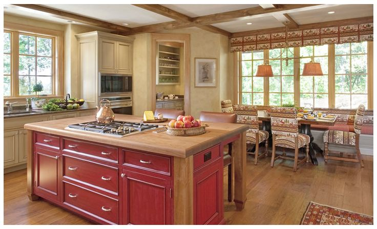 country kitchen with red accents 1 pretty kitchens
