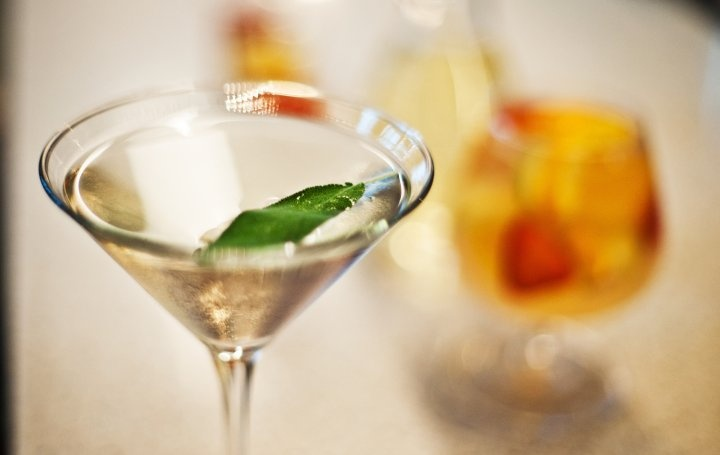 delicata cocktail: vodka, gin, lillet, st germain